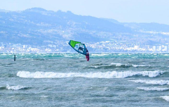 David Windsurfen am Bodensee